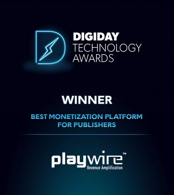 Playwire Wins Digiday Technology Award for Best Monetization Platform